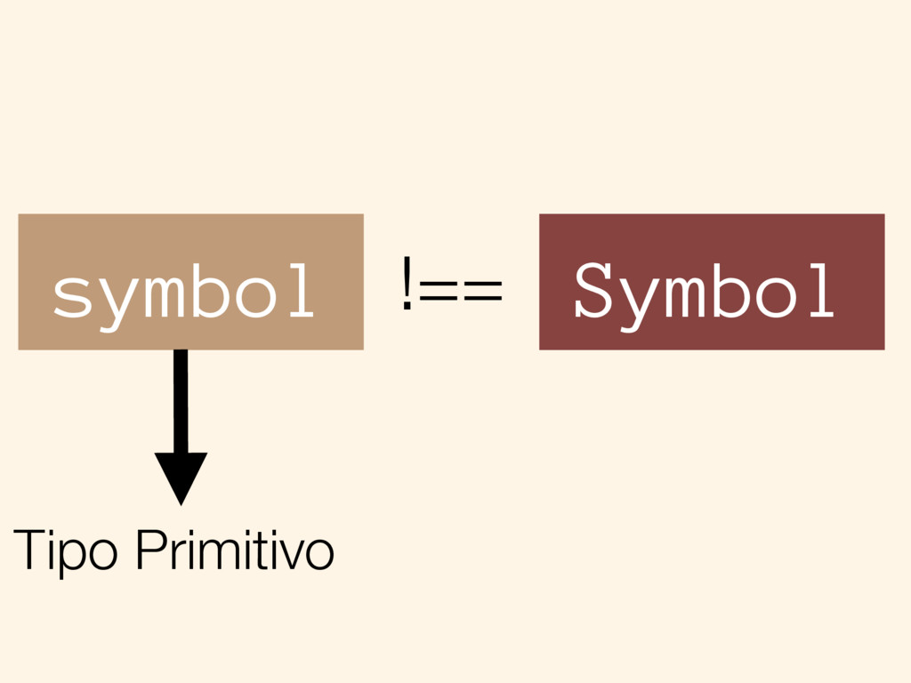 symbol Symbol !== Tipo Primitivo