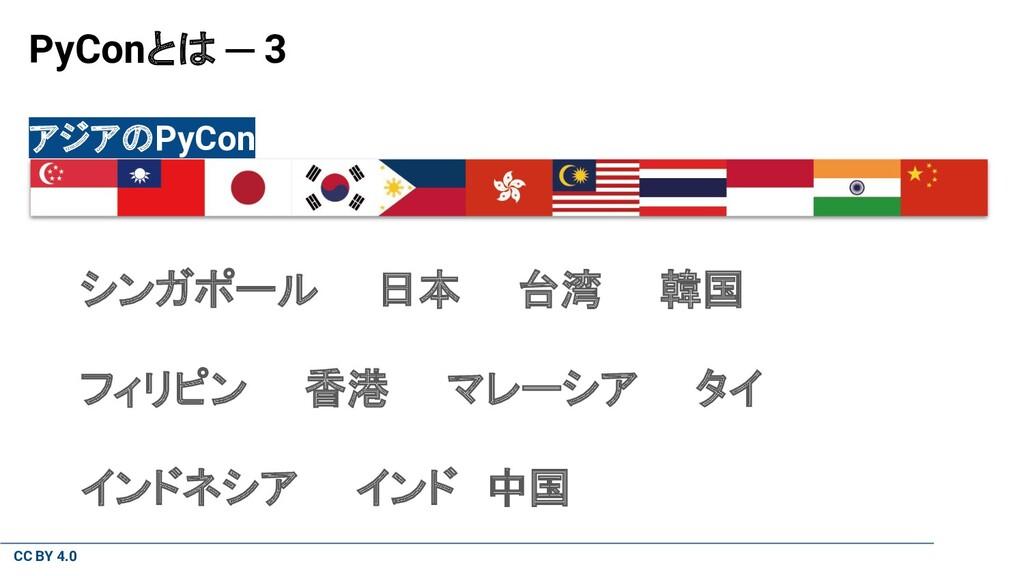 CC BY 4.0 PyConとは ─ 3 アジアのPyCon シンガポール  日本  台湾 ...