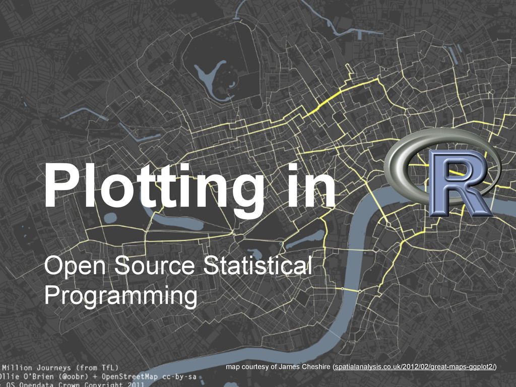 Plotting in Open Source Statistical Programming...