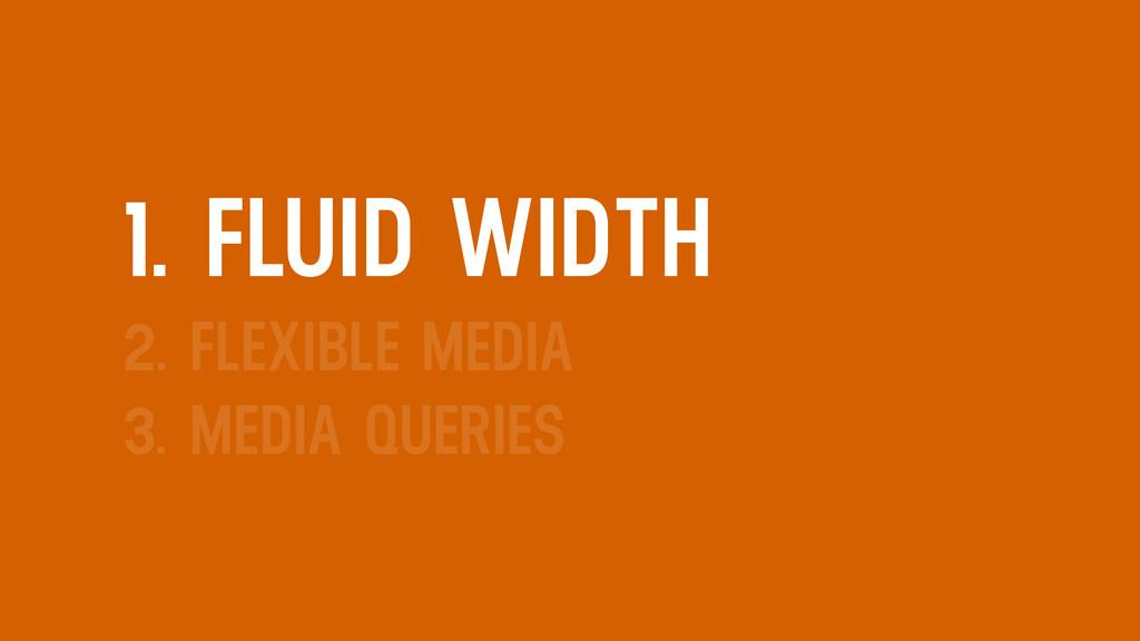 1. FLUID WIDTH 2. FLEXIBLE MEDIA 3. MEDIA QUERI...
