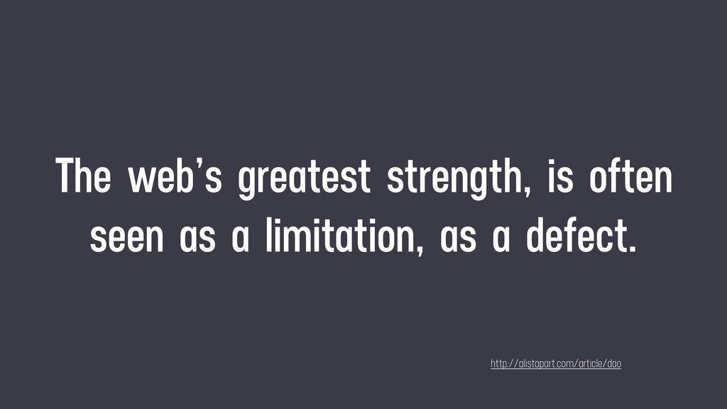 The web's greatest strength, is often seen as a...