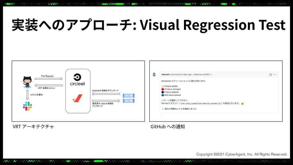 実装へのアプローチ: Visual Regression Test VRT アーキテクチャ G...