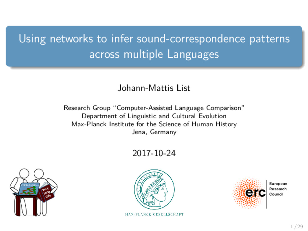 Using networks to infer sound-correspondence pa...