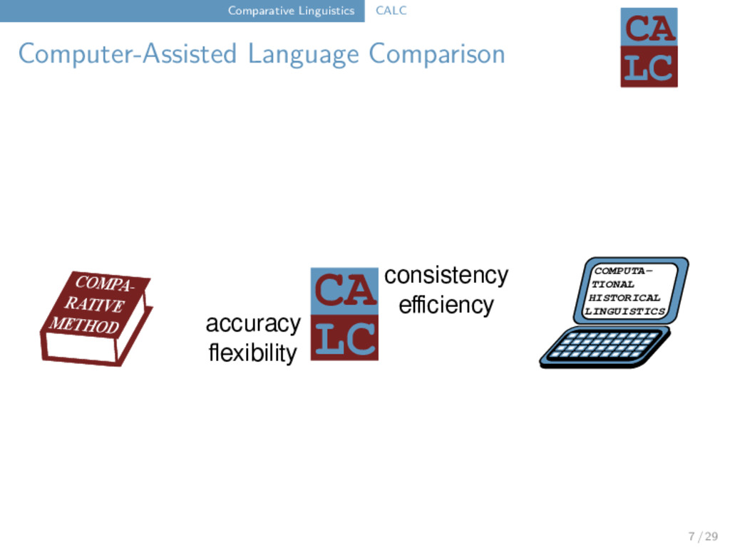 Comparative Linguistics CALC Computer-Assisted ...