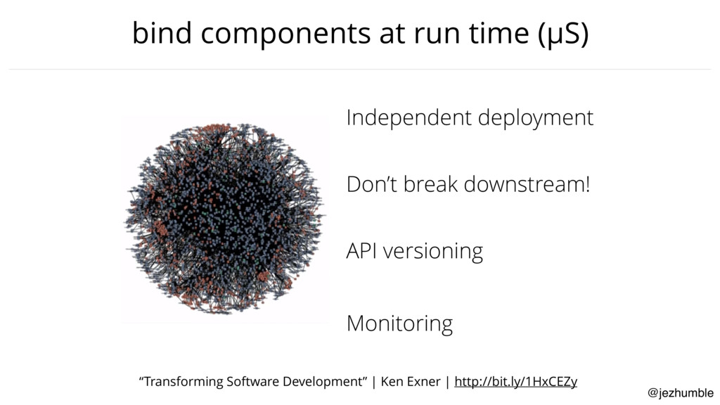 "@jezhumble bind components at run time (μS) ""Tr..."