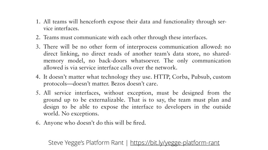 Steve Yegge's Platform Rant | https://bit.ly/ye...