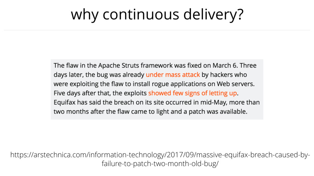 why continuous delivery? https://arstechnica.co...