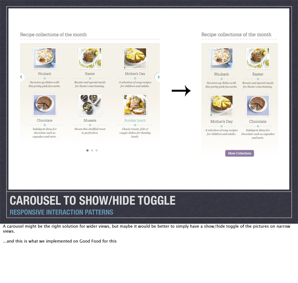 CAROUSEL TO SHOW/HIDE TOGGLE RESPONSIVE INTERAC...