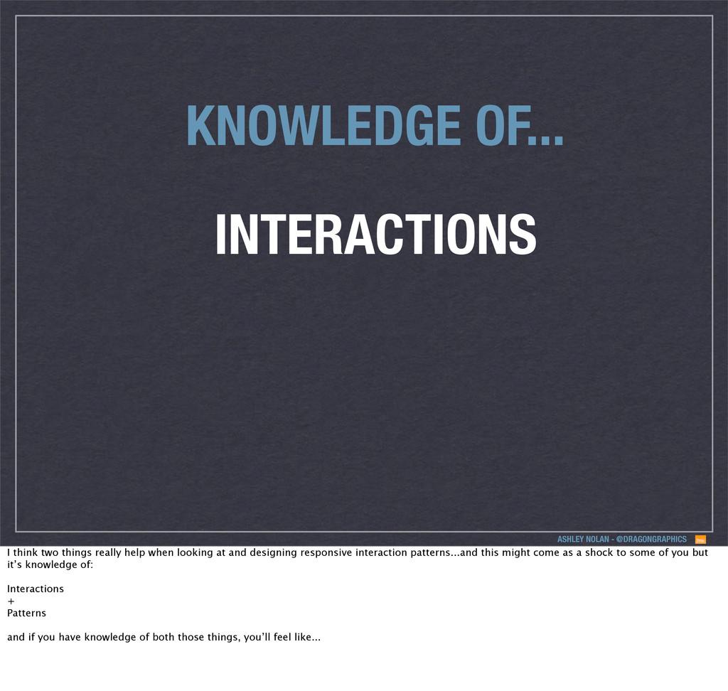 ASHLEY NOLAN - @DRAGONGRAPHICS INTERACTIONS KNO...