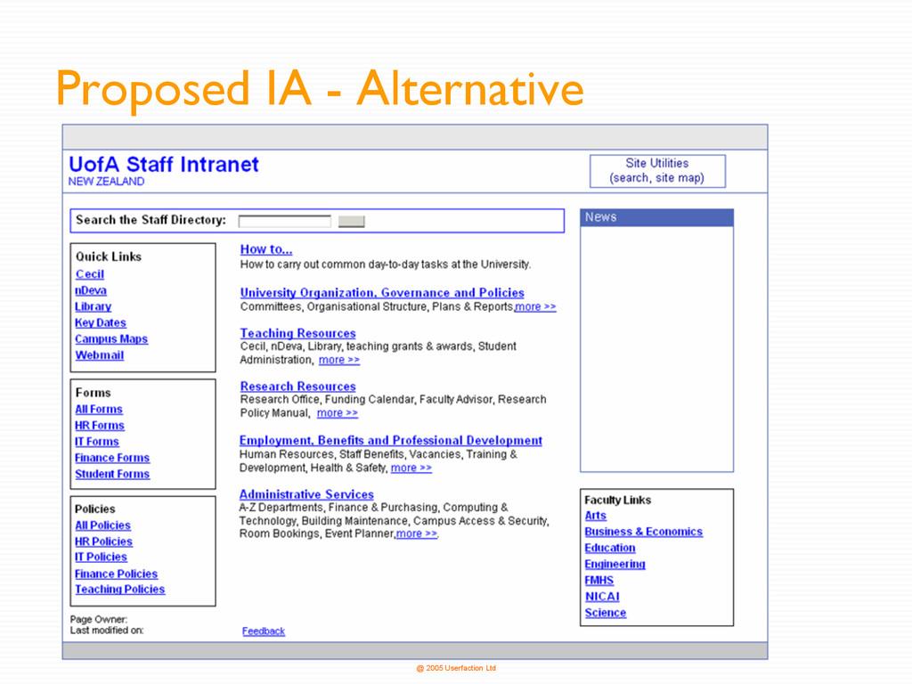 @ 2005 Userfaction Ltd Proposed IA - Alternative