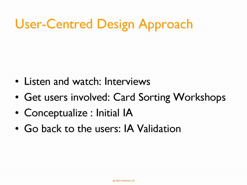 @ 2005 Userfaction Ltd User-Centred Design Appr...