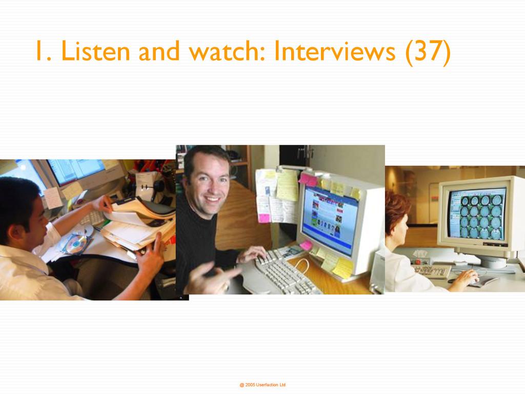 @ 2005 Userfaction Ltd 1. Listen and watch: Int...