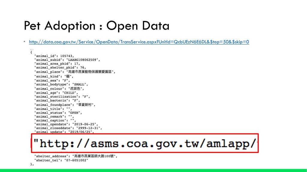 Pet Adoption : Open Data • http://data.coa.gov....