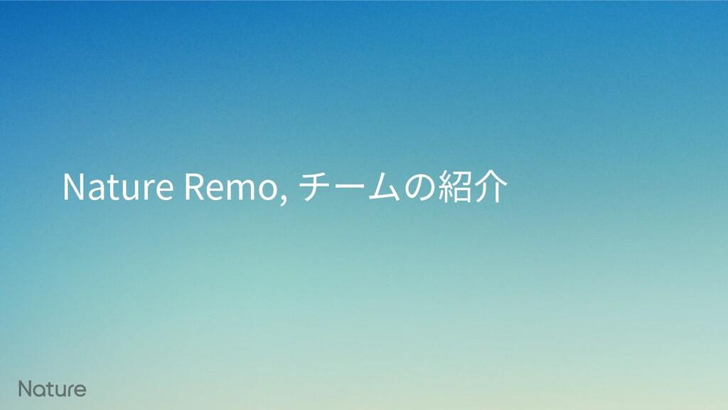 Nature Remo, チームの紹介