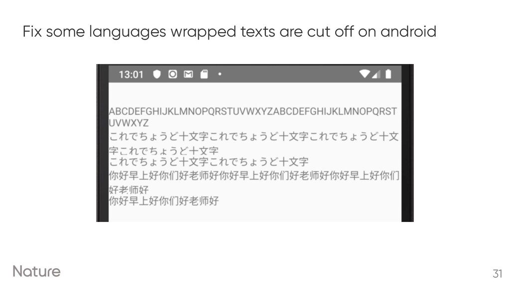 Fix some languages wrapped texts are cut off on...
