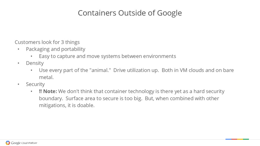 Containers Outside of Google Customers look for...