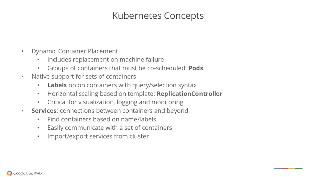 Kubernetes Concepts • Dynamic Container Placeme...