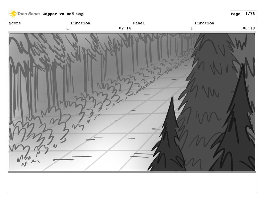 Scene 1 Duration 02:14 Panel 1 Duration 00:18 C...