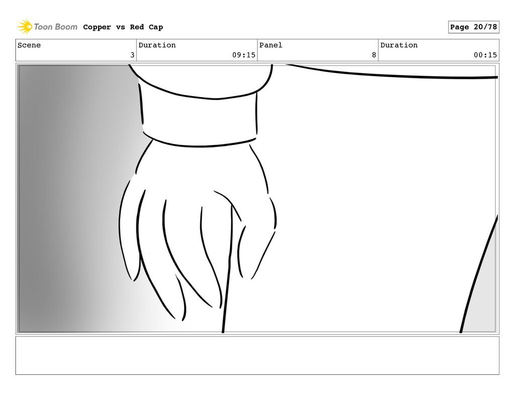 Scene 3 Duration 09:15 Panel 8 Duration 00:15 C...