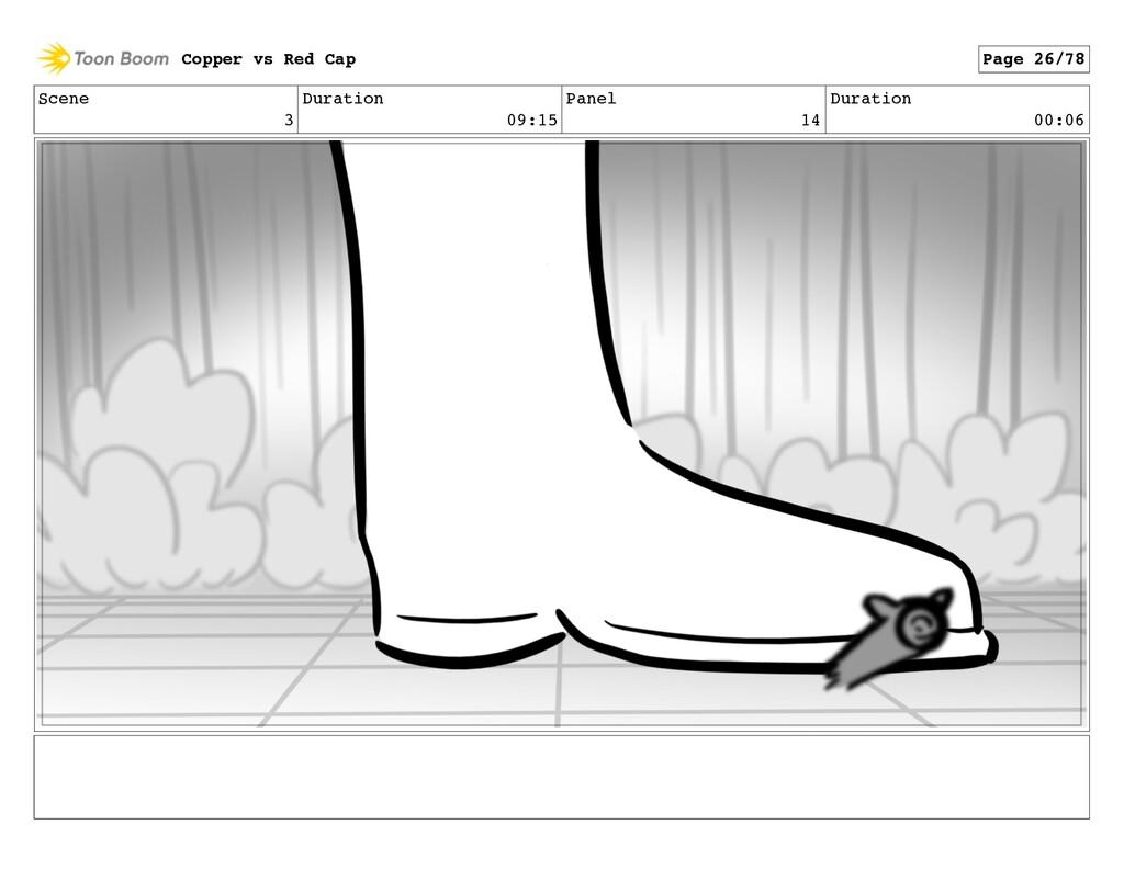 Scene 3 Duration 09:15 Panel 14 Duration 00:06 ...
