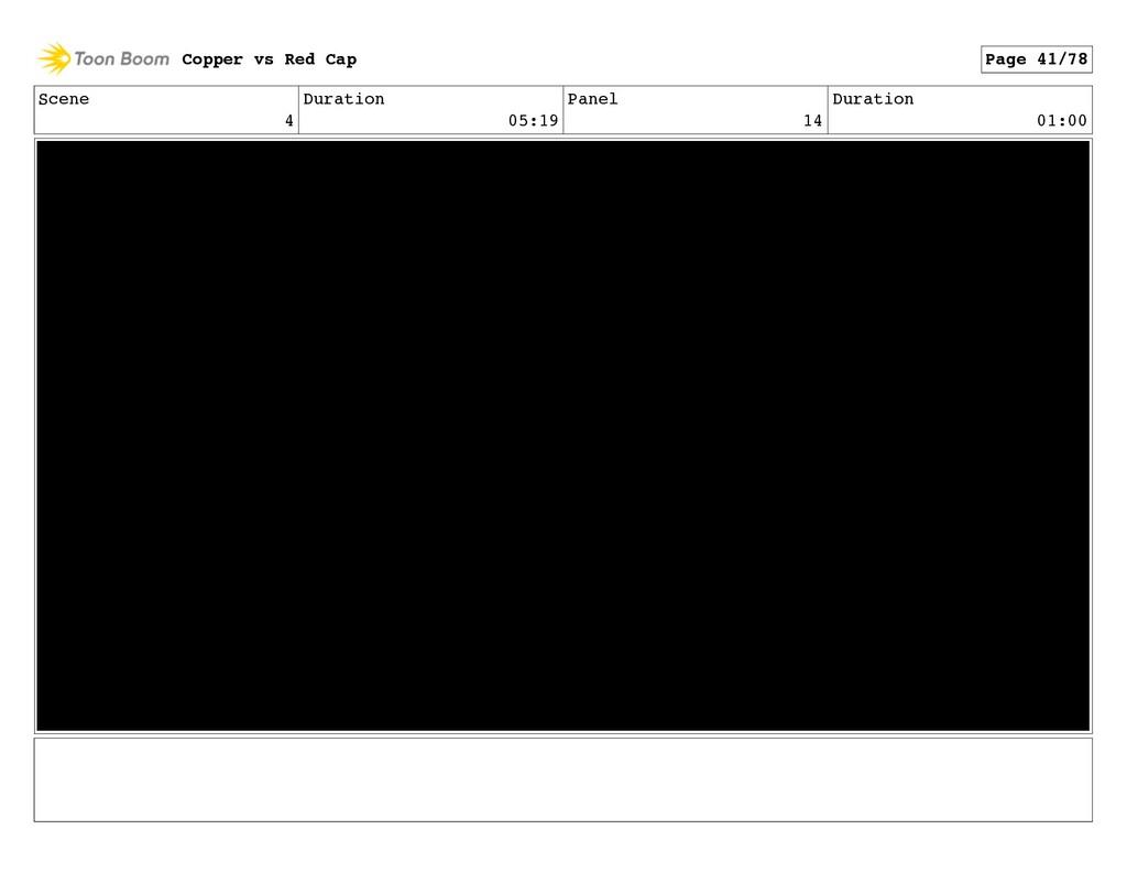 Scene 4 Duration 05:19 Panel 14 Duration 01:00 ...