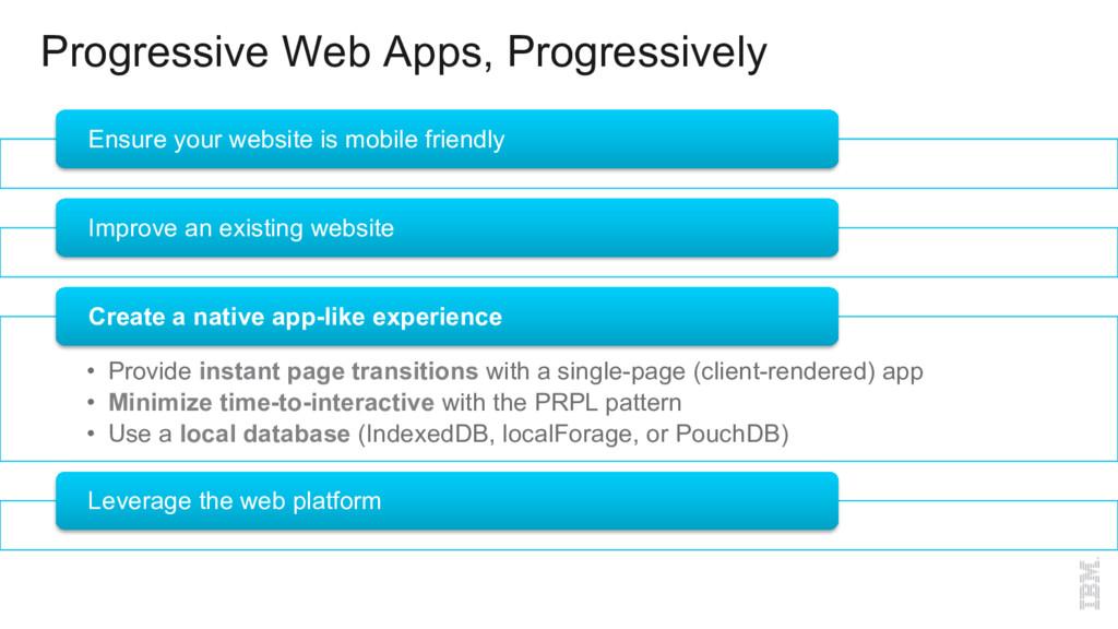 Progressive Web Apps, Progressively Ensure your...