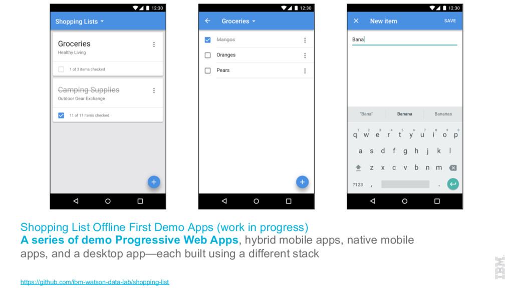 Shopping List Offline First Demo Apps (work in ...