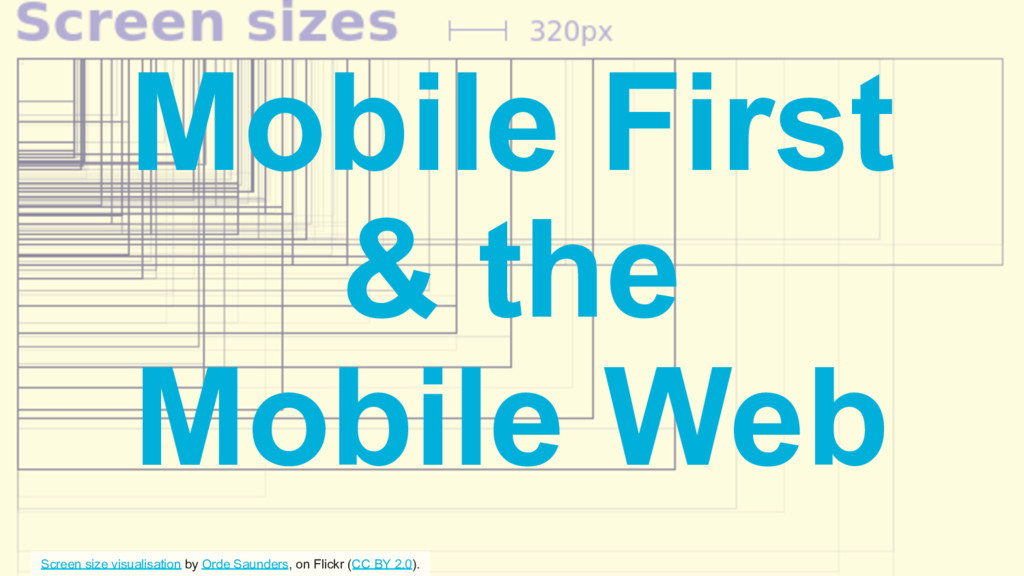 Mobile First & the Mobile Web Screen size visua...