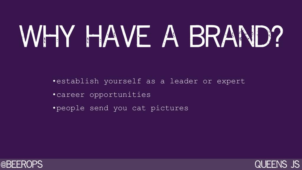 @beerops queens js •establish yourself as a lea...