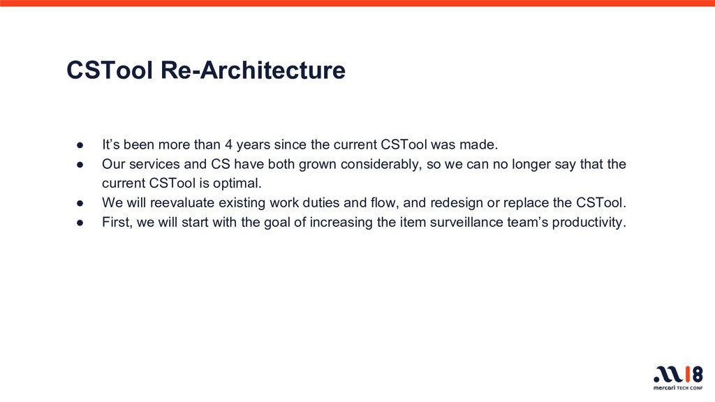 CSTool Re-Architecture ● It's been more than 4 ...