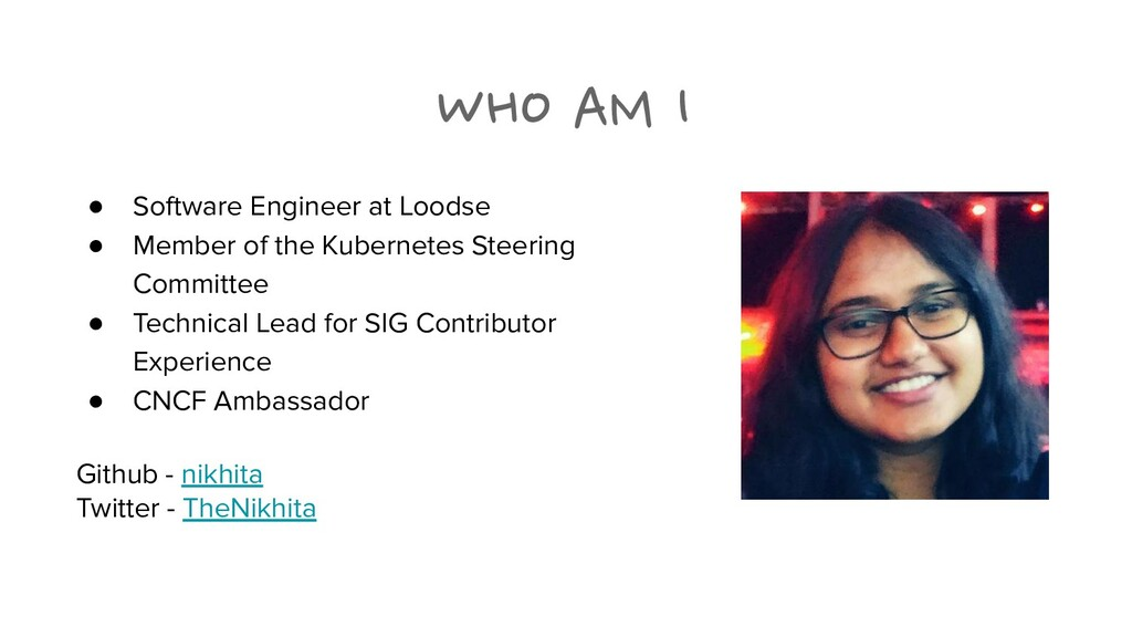 WHO AM I ● Software Engineer at Loodse ● Member...