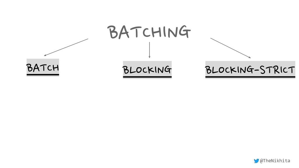 BATCHING BATCH BLOCKING BLOCKING-STRICT @TheNik...