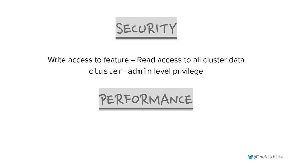 SECURITY PERFORMANCE Write access to feature = ...