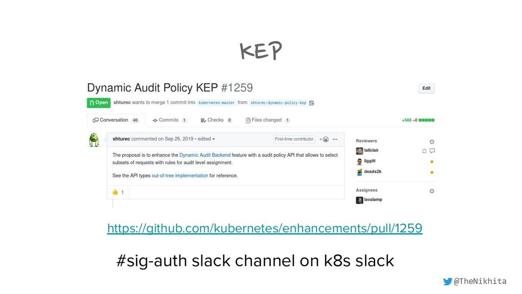 KEP https://github.com/kubernetes/enhancements/...