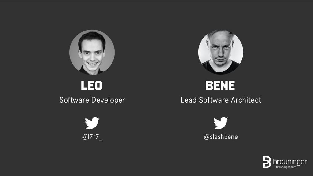 LEO Software Developer @l7r7_ BENE Lead Softwar...