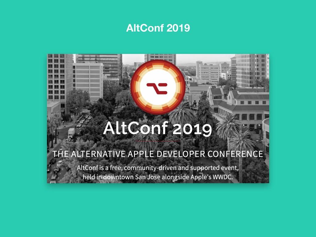 AltConf 2019