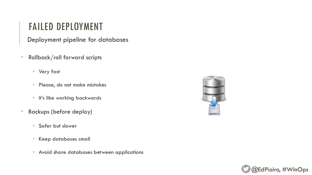 FAILED DEPLOYMENT Deployment pipeline for datab...