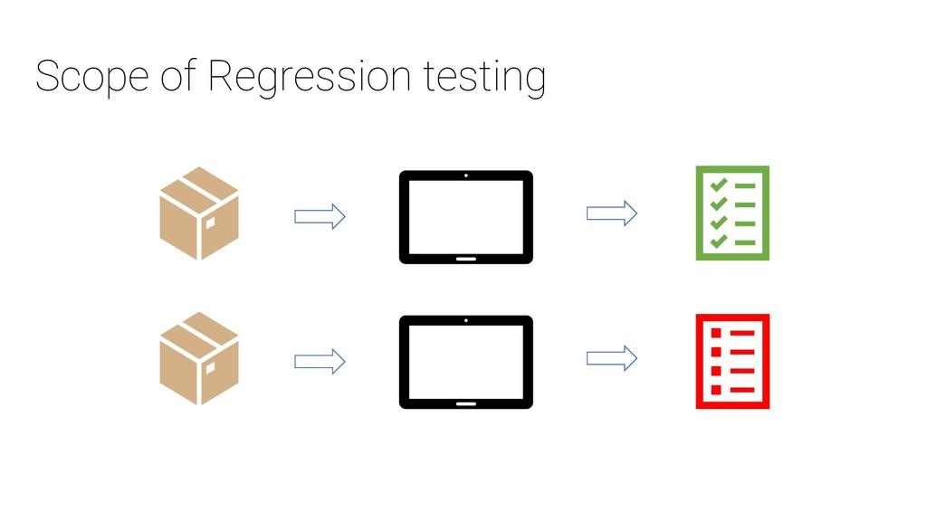 Scope of Regression testing