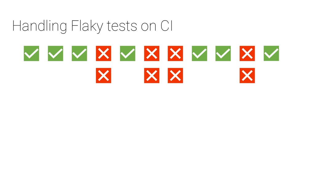 Handling Flaky tests on CI