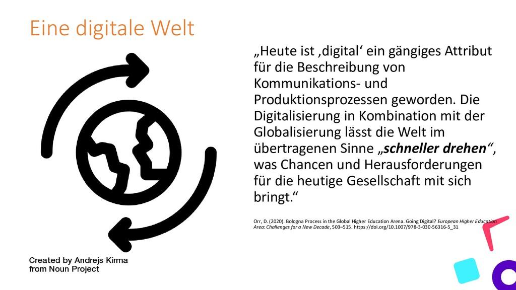 """Eine digitale Welt """"Heute ist 'digital' ein gän..."""