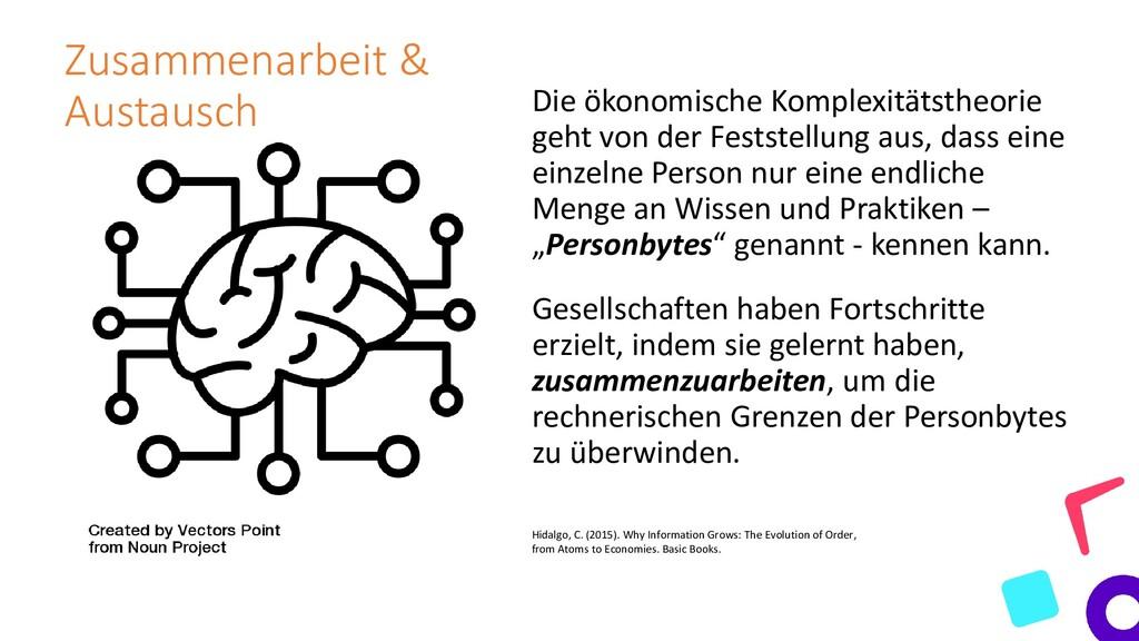Zusammenarbeit & Austausch Die ökonomische Komp...