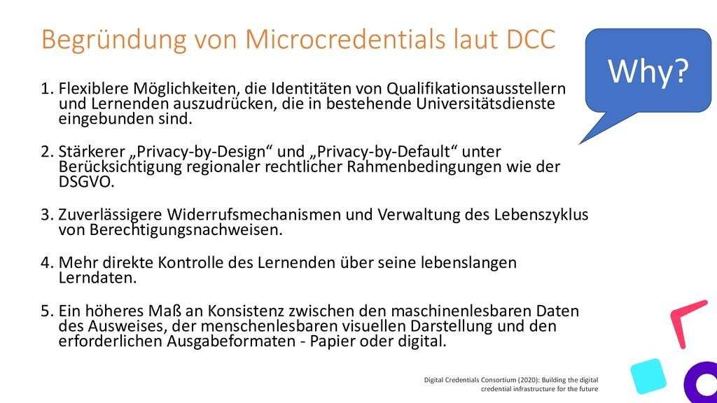 Begründung von Microcredentials laut DCC 1. Fle...