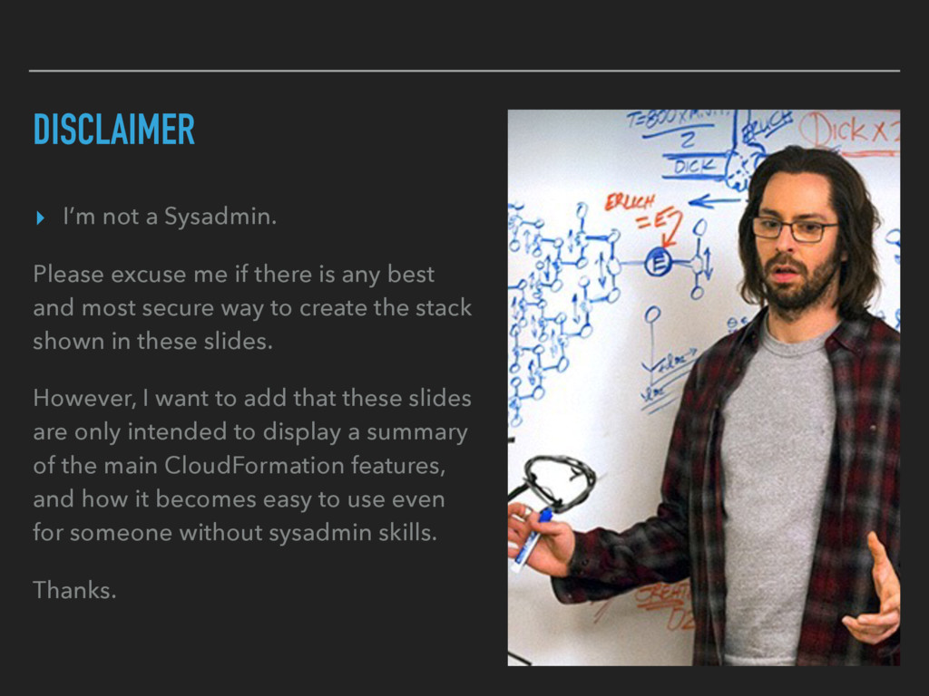 DISCLAIMER ▸ I'm not a Sysadmin. Please excuse ...