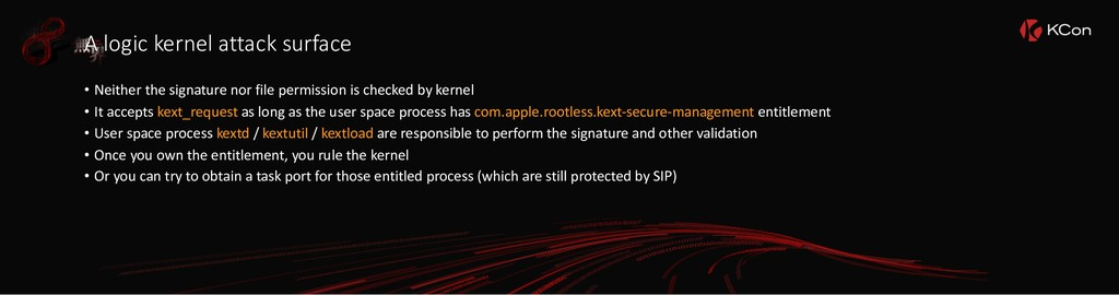 A logic kernel attack surface • Neither the sig...