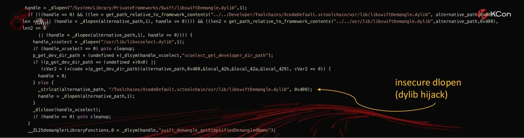 """handle = _dlopen(""""/System/Library/PrivateFramew..."""