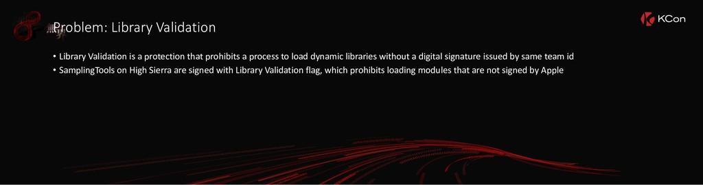 Problem: Library Validation • Library Validatio...