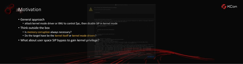 Motivation • General approach • attack kernel m...