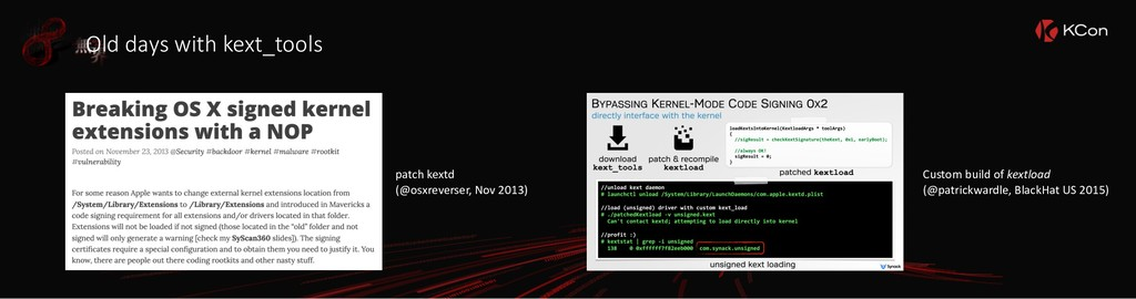 patch kextd (@osxreverser, Nov 2013) Custom bui...