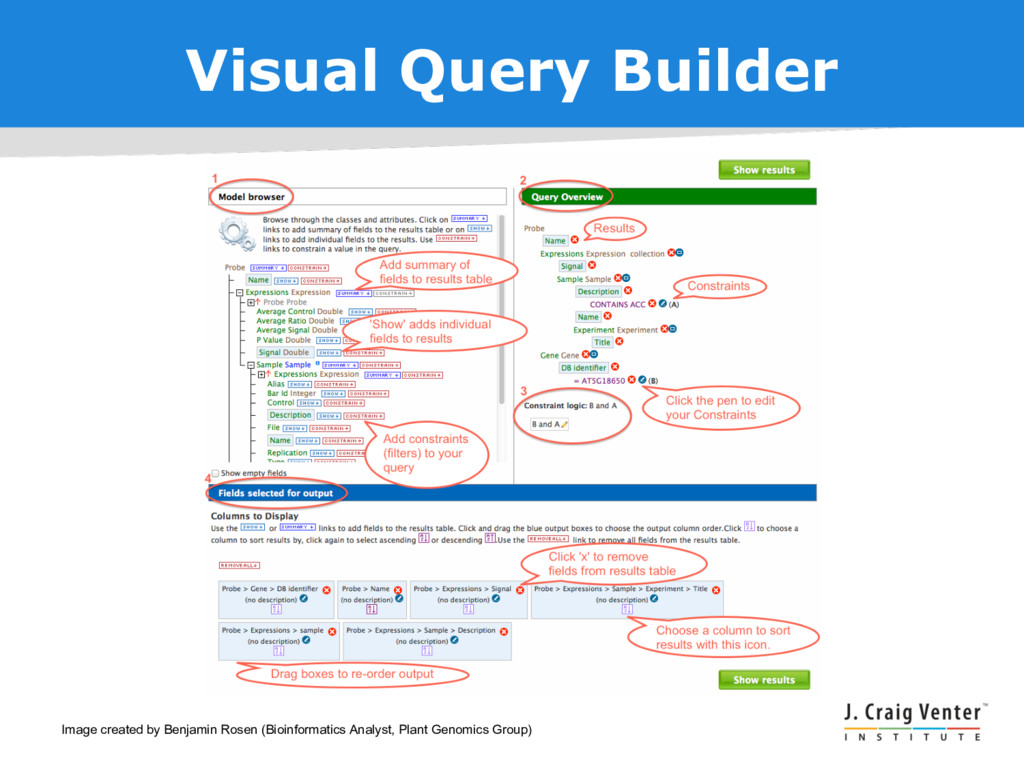Visual Query Builder Image created by Benjamin ...