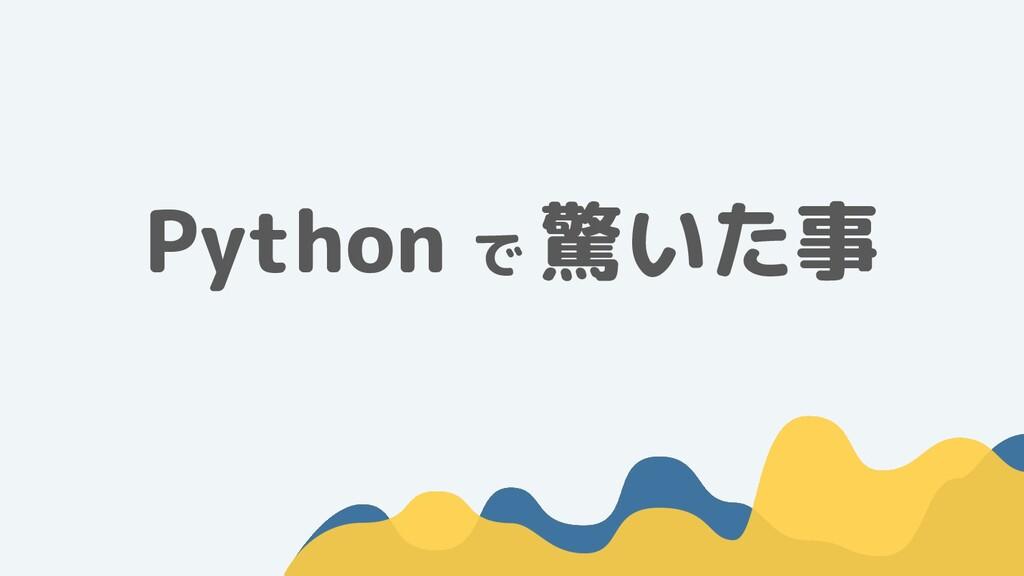 Python で 驚いた事